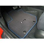 Beautiful 2009 2013 Fit Blue Stitched Carpet Floor Mats
