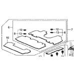 2014 2017 genuine honda odyssey floor mats with free. Black Bedroom Furniture Sets. Home Design Ideas